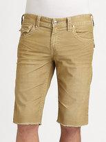 True Religion Ricky Corduroy Cut-Off Shorts