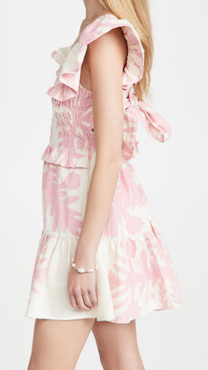 Sea Henrietta Print Short Sleeve Smocked Dress