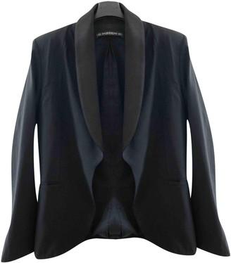 Les Prairies de Paris Black Silk Jacket for Women
