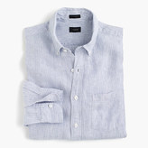 J.Crew Slim Irish linen shirt in thin stripe