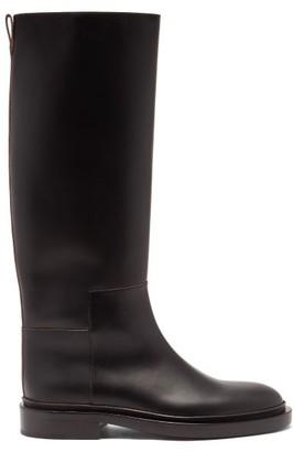 Jil Sander Panelled Knee-high Leather Boots - Black
