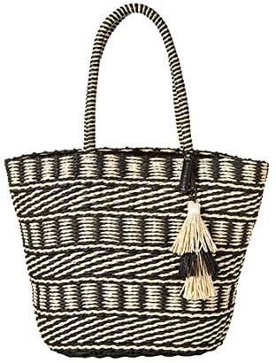 Lucky Brand Ordo Tote (Black/Natural) Handbags