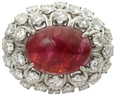 David Webb Platinum Ruby Diamond Dome Ring