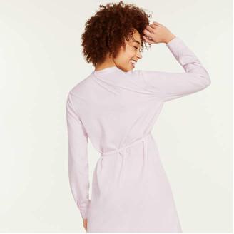 Joe Fresh Women's Stand Collar Shirtdress, Pale Pink (Size XS)