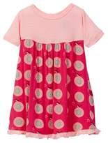 Kickee Pants Print Short Sleeve Swing Dress in Calypso Record Birds (Baby Girls)
