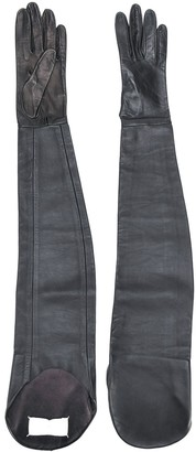 Maison Margiela Pre Owned leather 1990s extra-long gloves