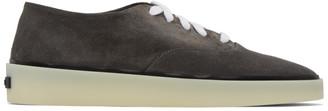 Fear of God Ermenegildo Zegna Grey Suede Low-Top Sneakers