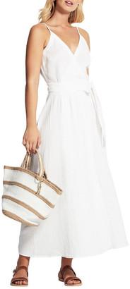 Seafolly Beach Edit Double Cloth Wrap Dress