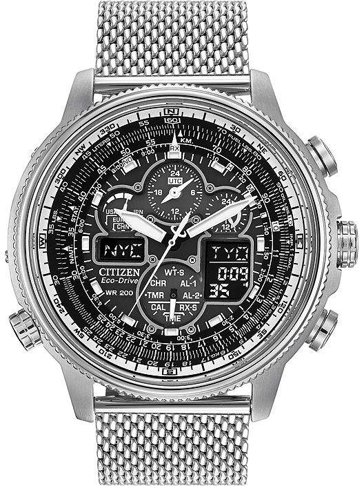 Citizen Eco-Drive Navihawk A-T Mens Chronograph Watch JY8030-83E
