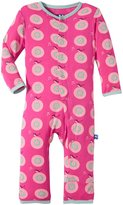 Kickee Pants Print Coveralls (Baby) - Calypso Record-0-3 Months