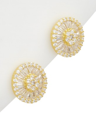 Alanna Bess Limited Collection 14K Over Silver Cz Circle Studs