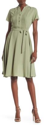 Nanette Lepore Short Sleeve Pintuck Dress