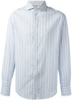 Brunello Cucinelli striped shirt - men - Cotton/Linen/Flax - M