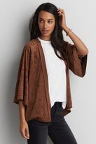 American Eagle Outfitters AE Faux Suede Kimono