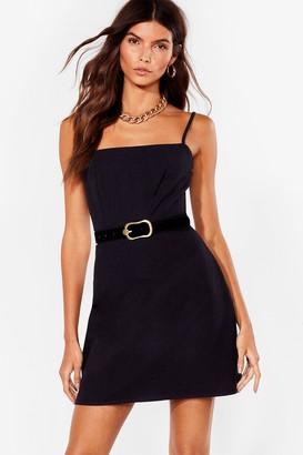 Nasty Gal Womens One Mini Babe Square Neck Dress - Black - 4