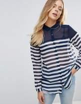 Brave Soul Jet Stripe Shirt