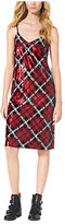 Michael Kors Sequined Plaid Slip Dress