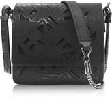 Kenzo Black Laser Cut Flying Logo Shoulder Bag