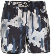 Topman Black Floral Runner Shorts