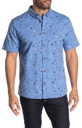 Quiksilver Regular Fit Ditsy Short Sleeve Stretch Shirt