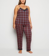 New Look Curves Check Pyjama Trousers