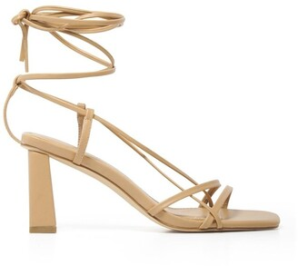 Forever New Addison Strappy Ankle Tie Block Heel