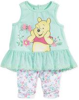 Nannette 2-Pc. Winnie The Pooh Peplum Tunic & Capri Leggings Set, Baby Girls (0-24 months)