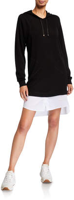 Twin-Set Twinset Hooded Long Sleeve Wool-Blend Dress