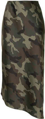 Alice + Olivia Camouflage Asymmetric Skirt