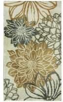 "Bacova Cashlon Garden Gold Floral-Print 20"" x 32"" Bath Rug"