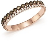 Bloomingdale's White & Brown Diamond Band in 14K Rose Gold - 100% Exclusive