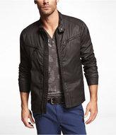 Express Waxy Cotton Racer Jacket
