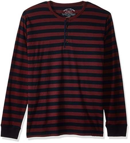9b6f80e3 Lucky Brand Blue Henley Men's Shirts - ShopStyle