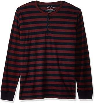 Lucky Brand Men's Casual Long Sleeve Stripe Henley Shirt