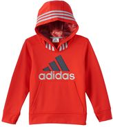 adidas Boys 4-7x Fleece-Lined Classic Embroidered Logo Pullover Hoodie