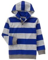 Crazy 8 Stripe Hooded Henley