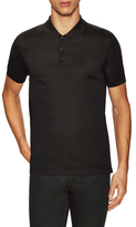 Lanvin Solid Spread Collar Pique Polo