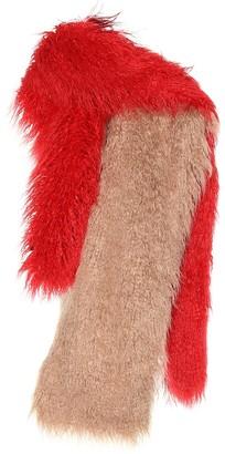 Dries Van Noten Feather-trimmed scarf
