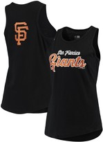 New Era Women's Black San Francisco Giants Mesh Back Baby Jersey Tank Top