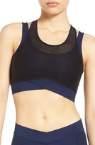 Ivy Park Double Layer Linear Mesh Bra
