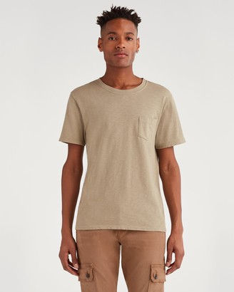 7 For All Mankind Boxer Pocket Tee in Army