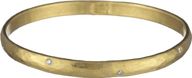 Yossi Harari Mica Medium Bangle With Diamonds