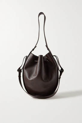 The Row Large Textured-leather Bucket Bag - Merlot