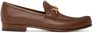Gucci Brown Chain Loafers