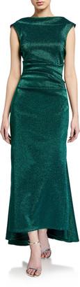 Talbot Runhof Iridescent Gazar Dress