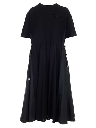 Moncler Short-Sleeve Flared Dress
