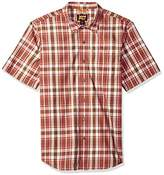 Timberland Men's Plotline Short-Sleeve Plaid Work Shirt