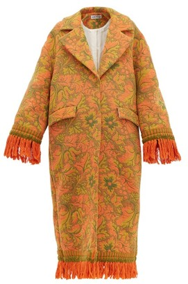 Rave Review - Lue Tasselled Vintage-jacquard Coat - Womens - Multi