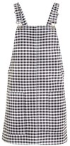 Topshop MOTO Gingham Pinafore Dress