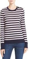 Equipment Women's Ondine Stripe Silk & Cashmere Sweater